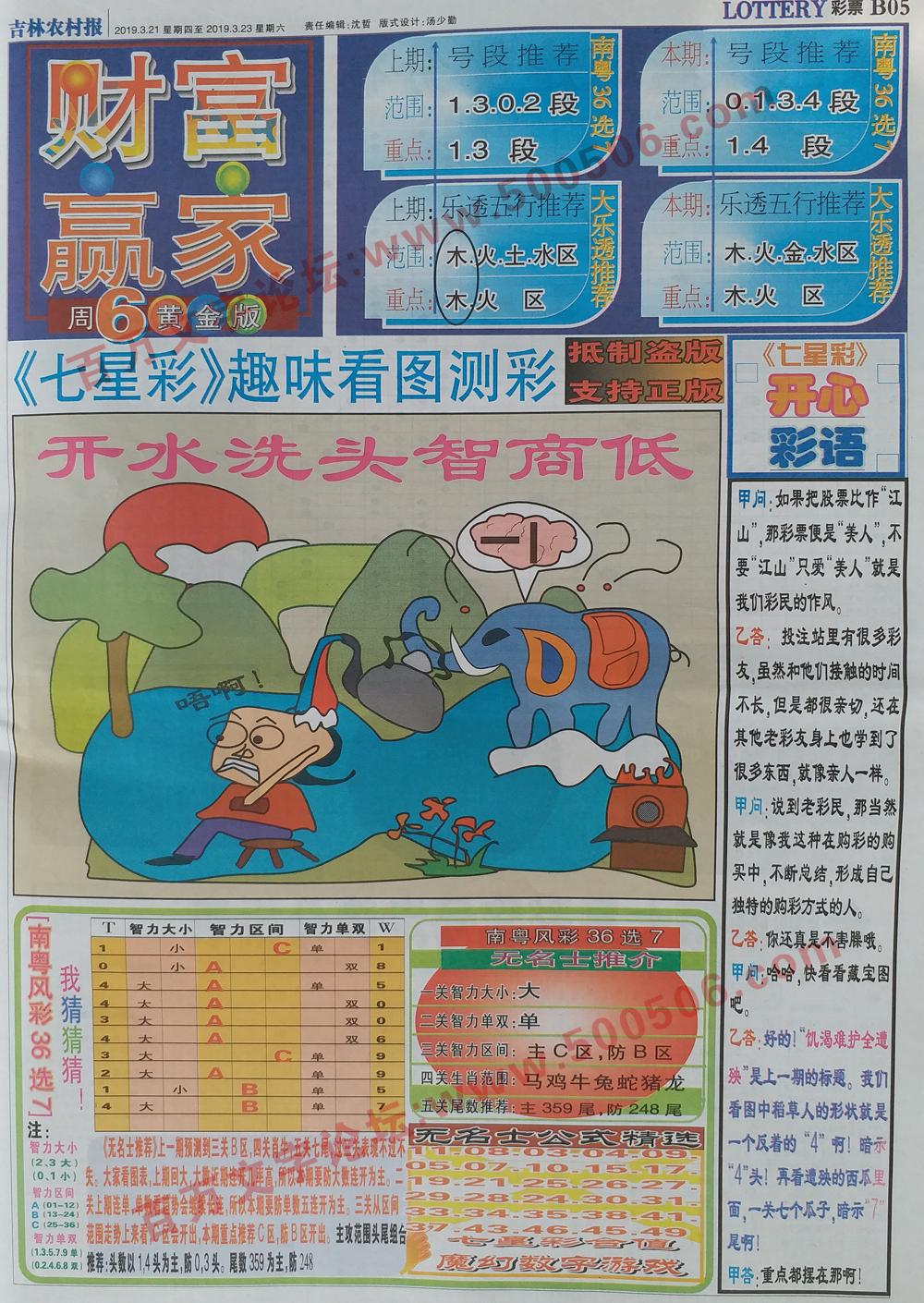 035期:彩民推荐:≮财富赢家≯→(博彩必备)