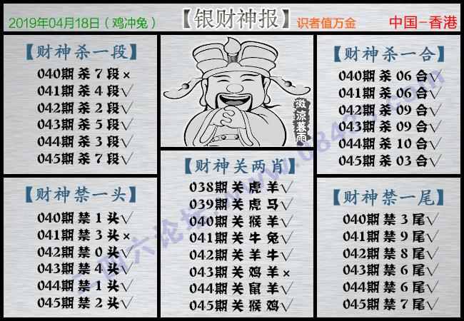 045期:银财神报