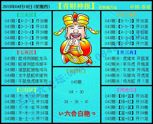 045期:青财神报