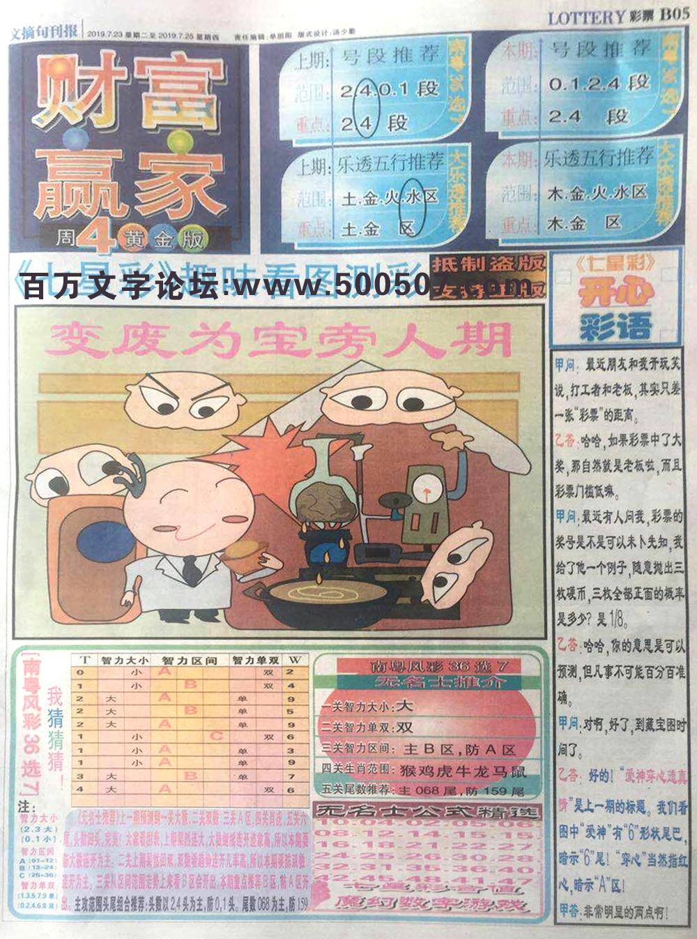 084期:彩民推荐:≮财富赢家≯→(博彩必备)