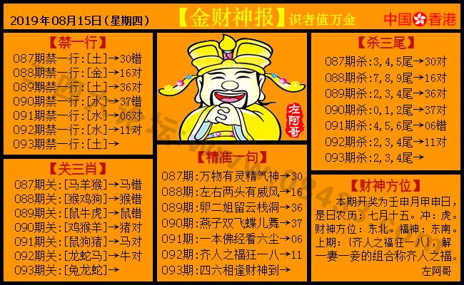 093期:金色财神报