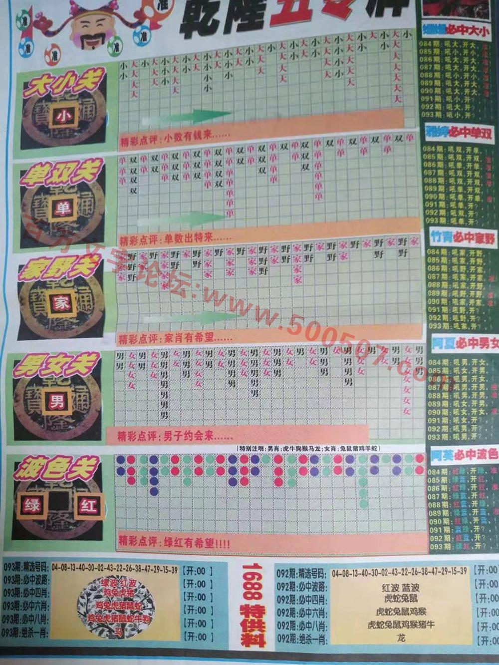 093期:彩民推荐:≮粤彩联盟≯→(博彩必备)