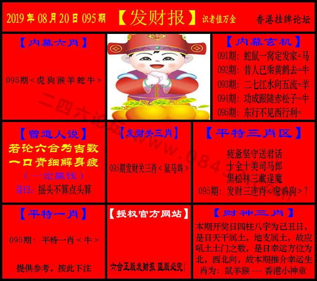 095期:发财报-猛虎报