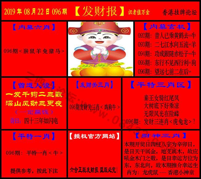 096期:发财报-猛虎报