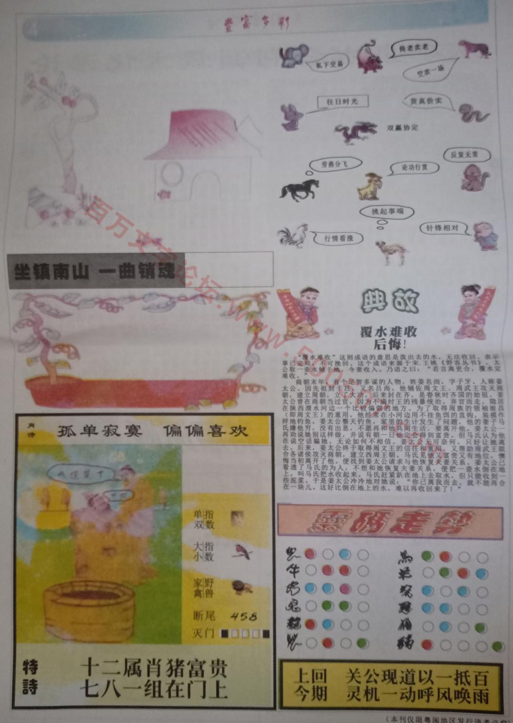 096期:彩民推荐:≮财富赢家≯→(七星彩图)