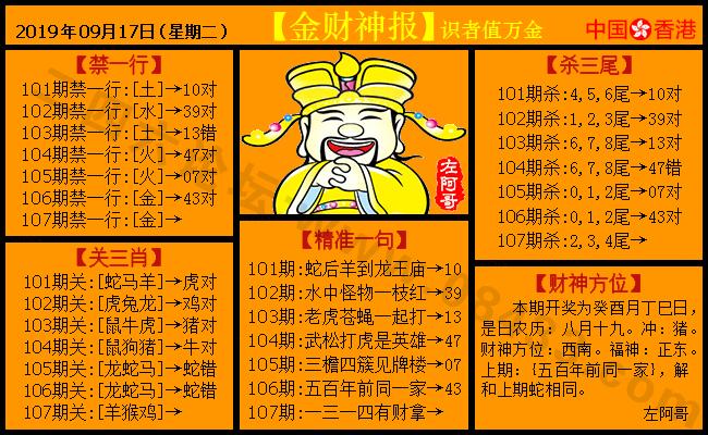 107期:金色财神报