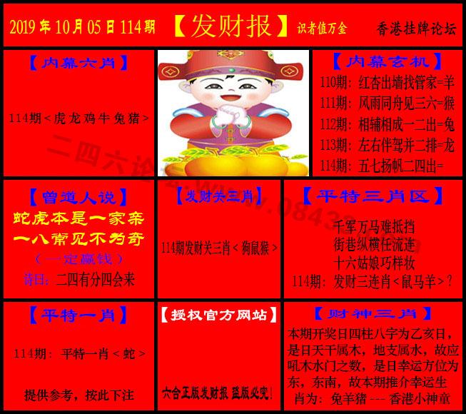 114期:发财报-猛虎报