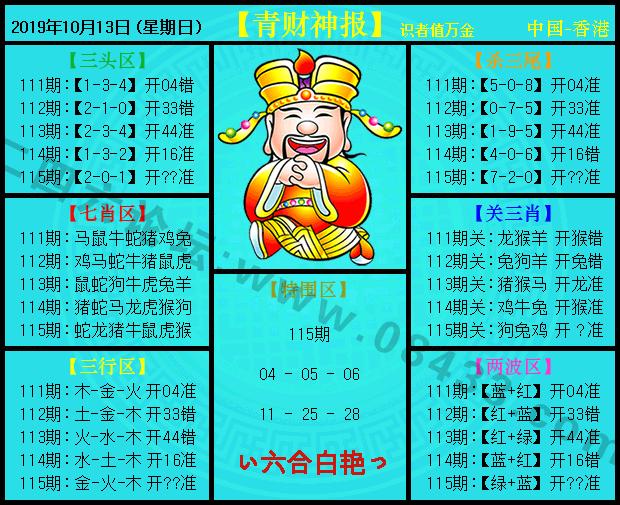 115期:青财神报