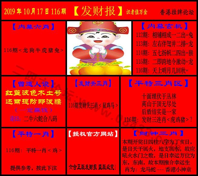 116期:发财报-猛虎报