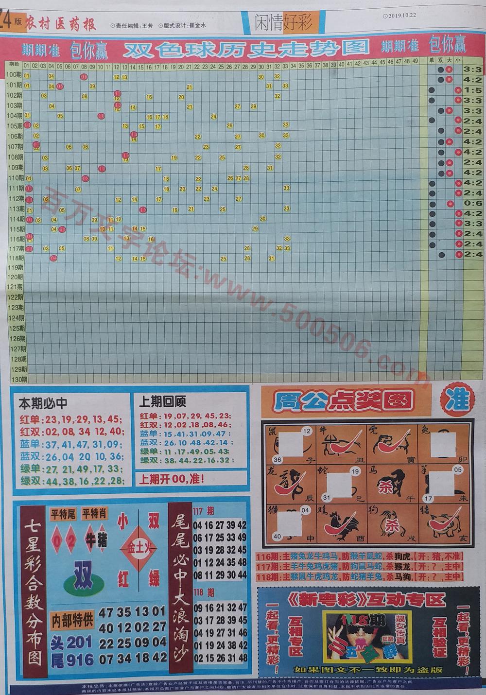118期:彩民推荐:≮粤彩联盟≯→(博彩必备)