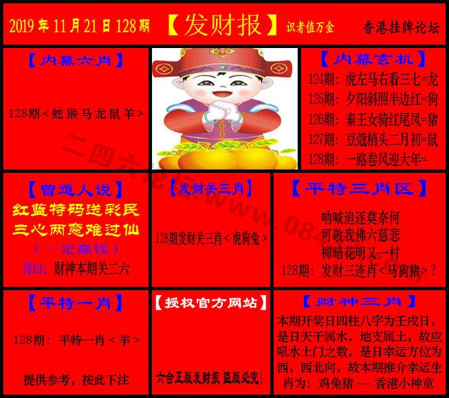 128期:发财报-猛虎报