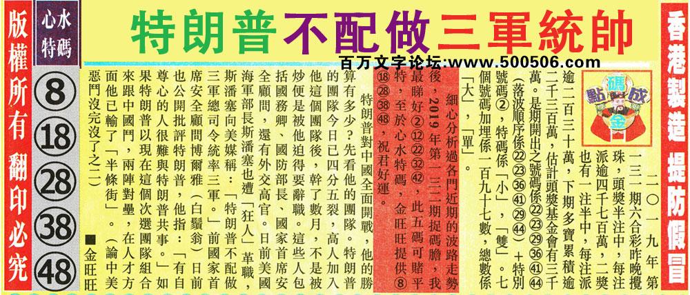 132期:金旺旺信箱彩民推荐→→《曾道人鼠年通勝市面有售》