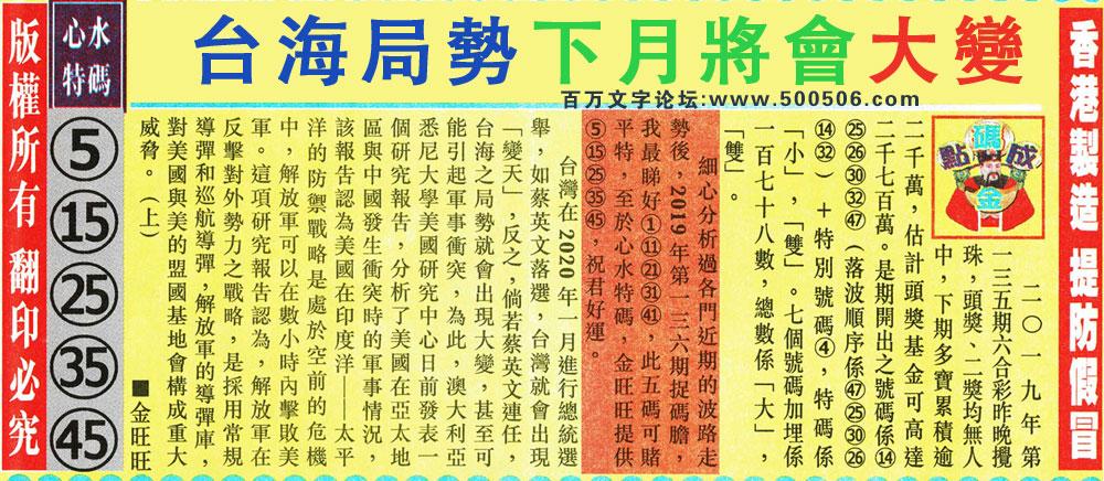 136期:金旺旺信箱彩民推荐→→《父慈子孝・幸福之家》