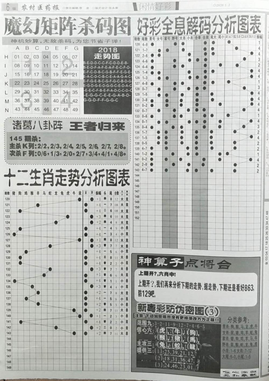 001期:彩民推荐:≮新粤彩≯→(博彩必备)