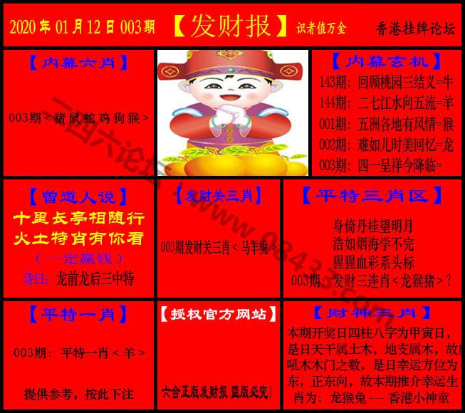003期:发财报-猛虎报