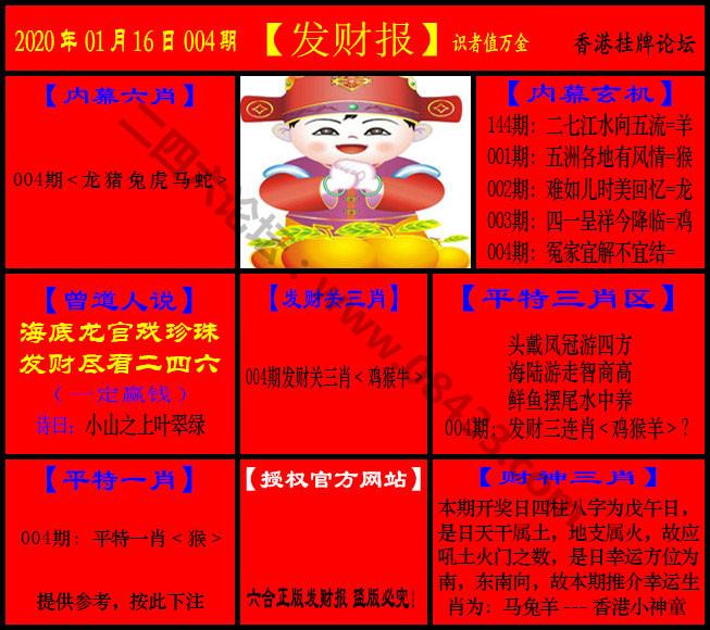 004期:发财报-猛虎报