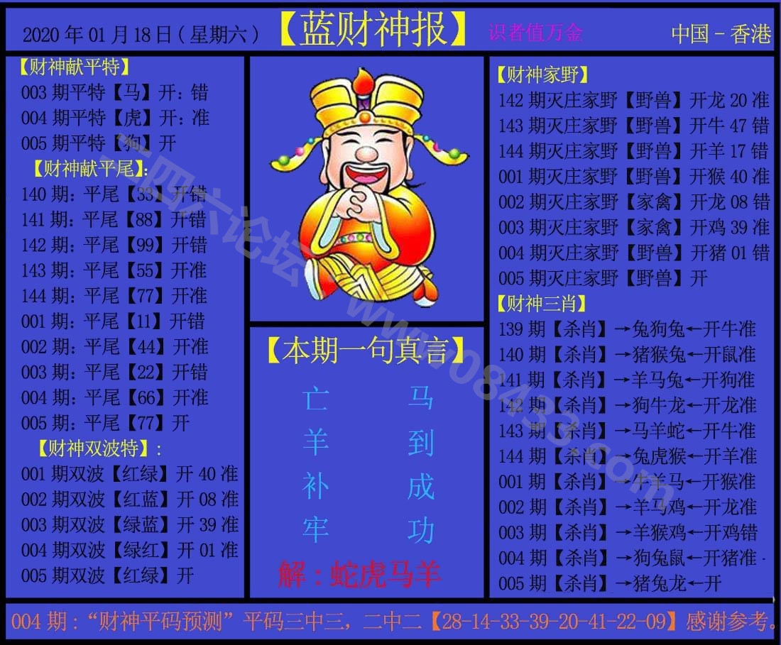 005期:蓝财神报