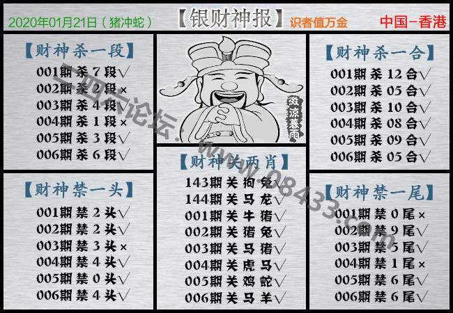 006期:银财神报