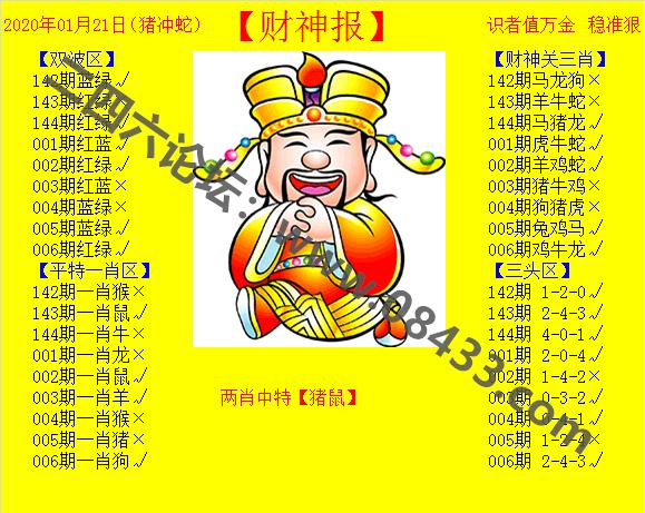 006期:黄色财神报