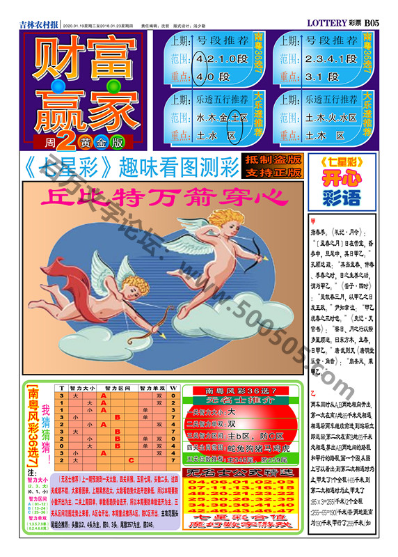 006期:彩民推荐:≮财富赢家≯→(七星彩图)
