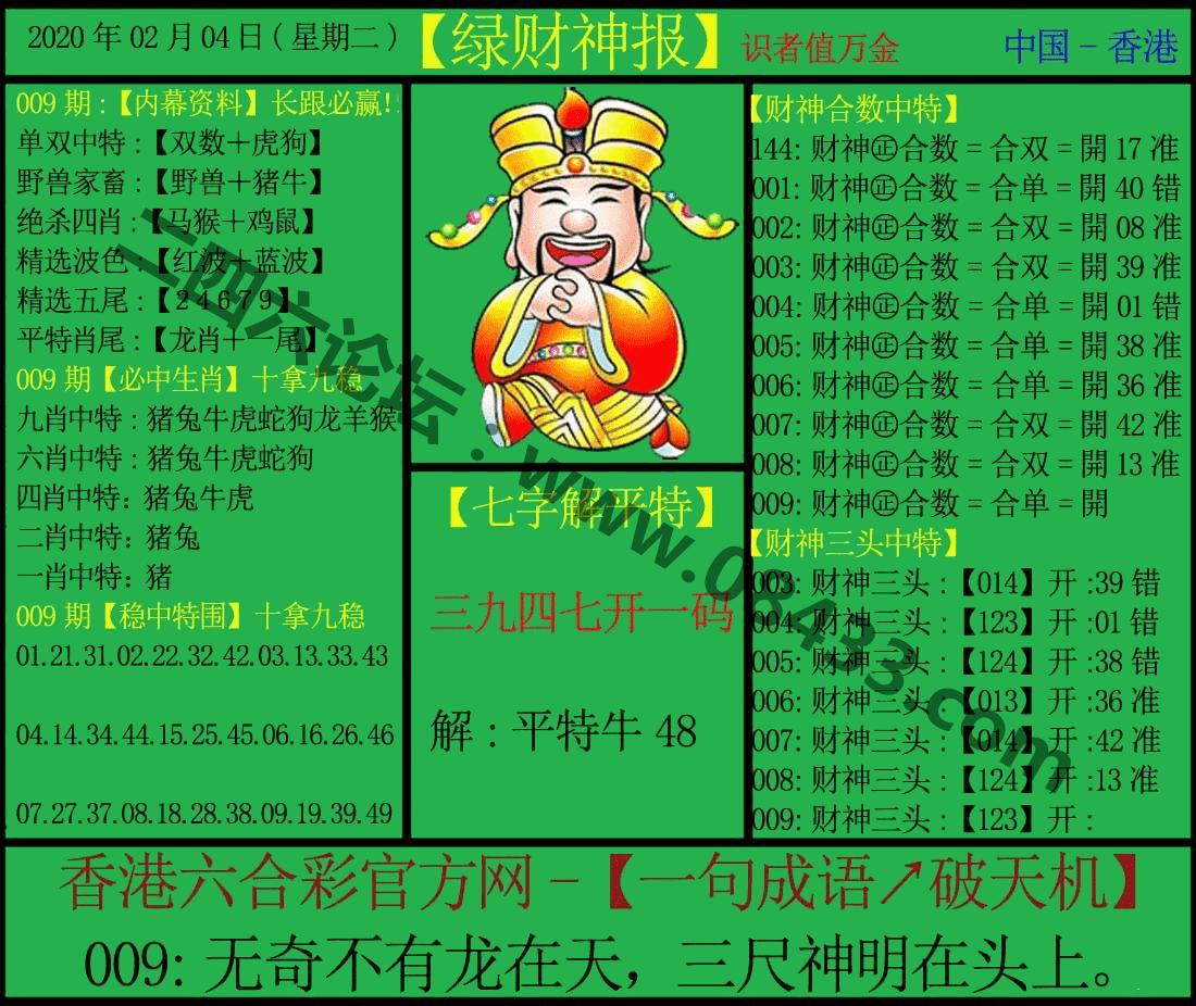 009期:绿财神报