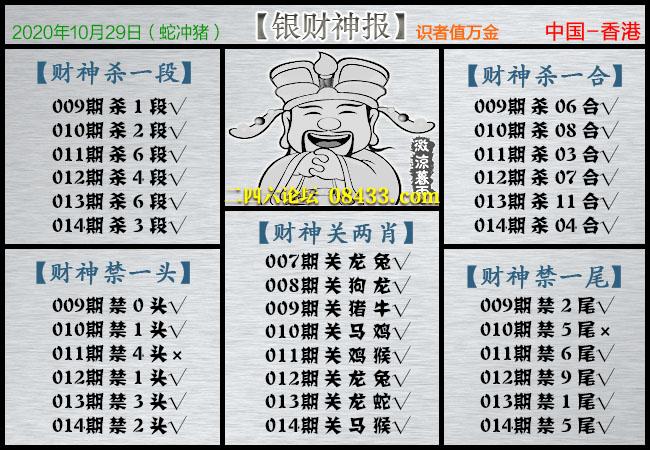 014期:银财神报