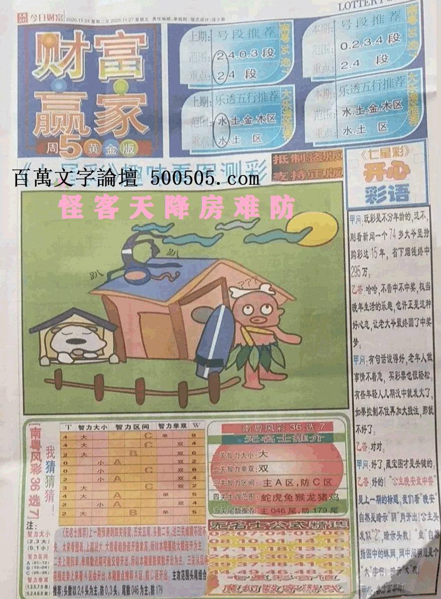 021期:彩民推荐:≮财富赢家≯→(七星彩图)