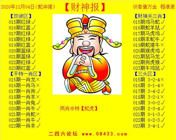 023期:黄财神报