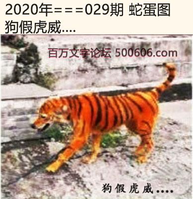 029期蛇蛋图:狗假虎威....