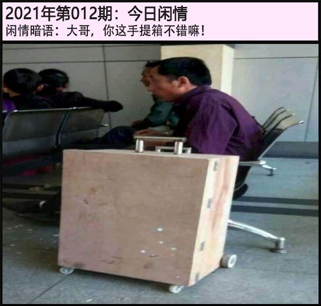 012期今日闲情:大哥,你这手提箱不错嘛!