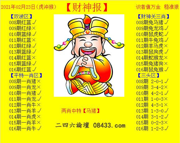 016期:黄财神报