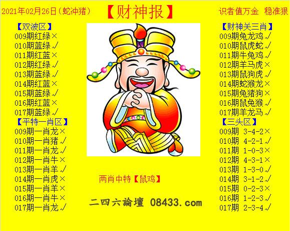 017期:黄财神报