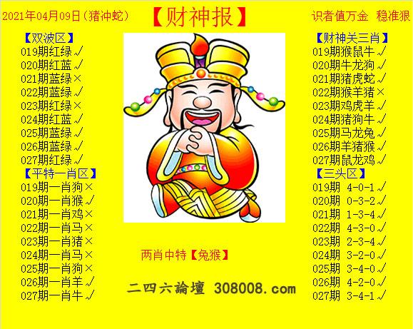 027期:黄财神报