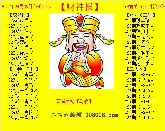 030期:黄财神报