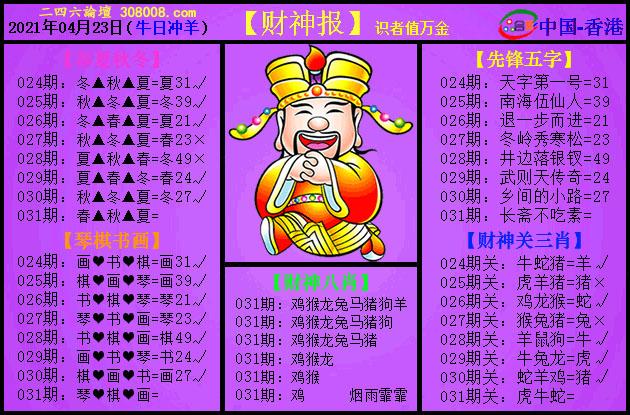 031期:紫财神报