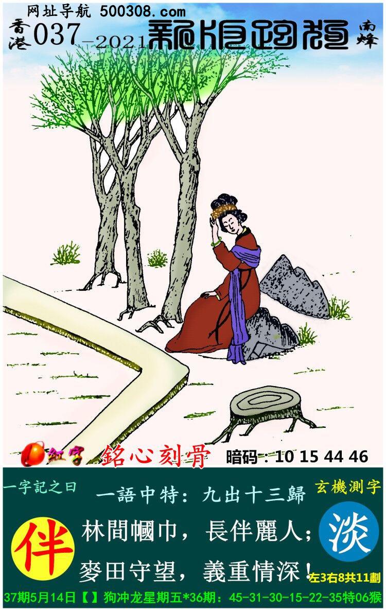 037期跑狗一字�之曰:【伴】 林�g�浇恚��L伴��人;��田守望,�x重情深!