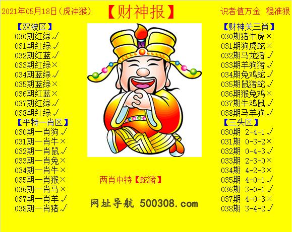 038期:黄财神报