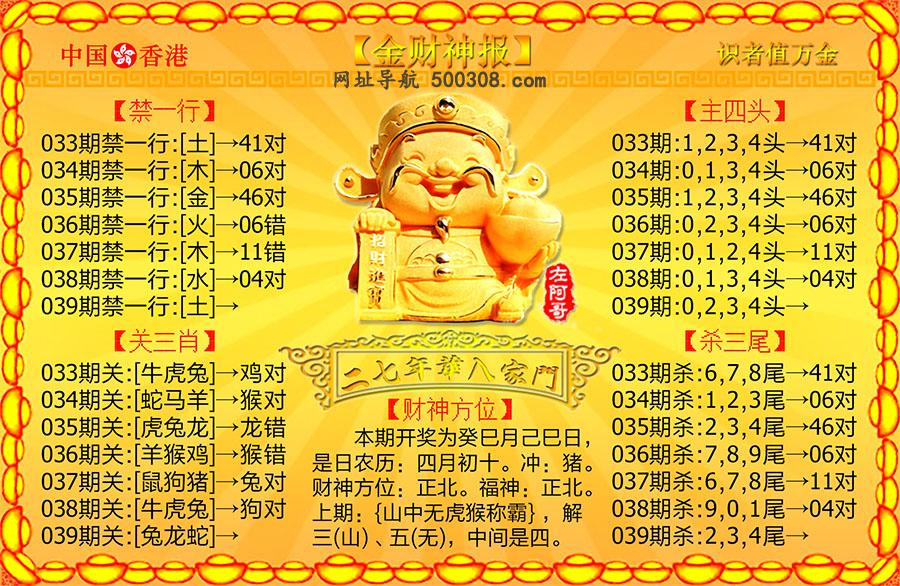 039期:金财神报