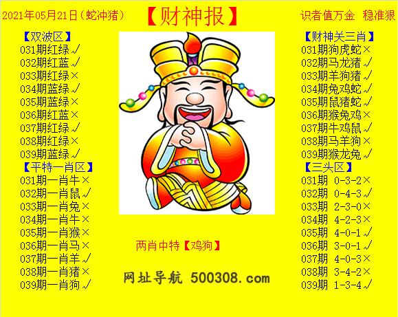 039期:黄财神报