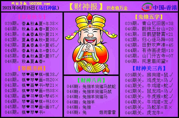 046期:紫财神报