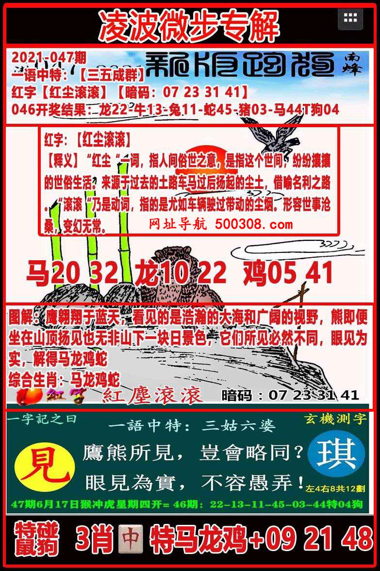 047期:凌波微步专解跑狗