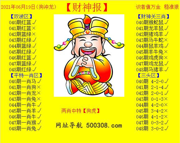 048期:黄财神报