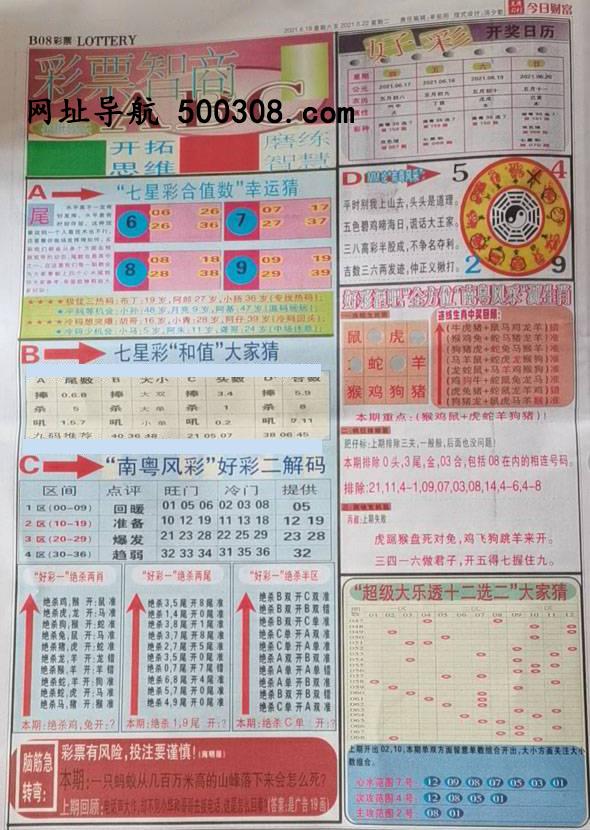 049期:彩民推荐:≮财富赢家≯→(七星彩图)