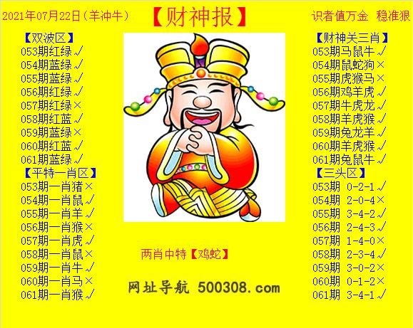 061期:黄财神报
