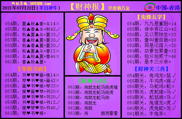 061期:紫财神报