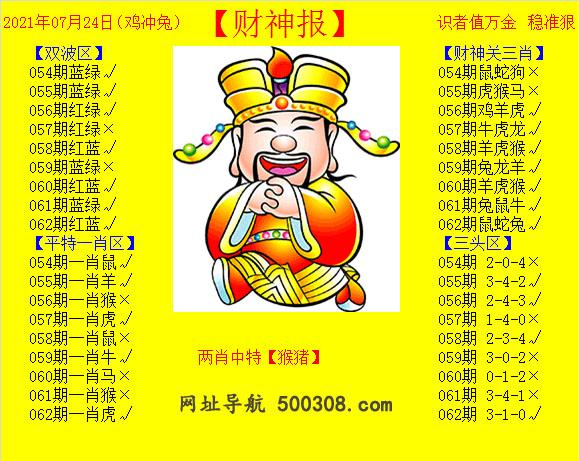 062期:黄财神报