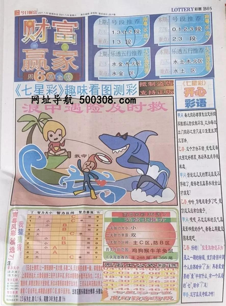 062期:彩民推荐:≮财富赢家≯→(七星彩图)