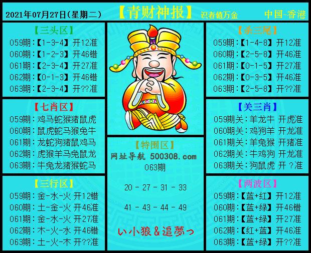 063期:青财神报