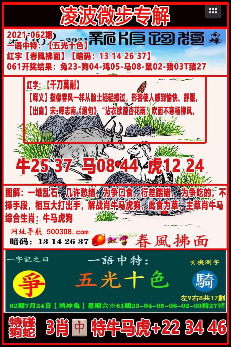 062期:凌波微步专解跑狗