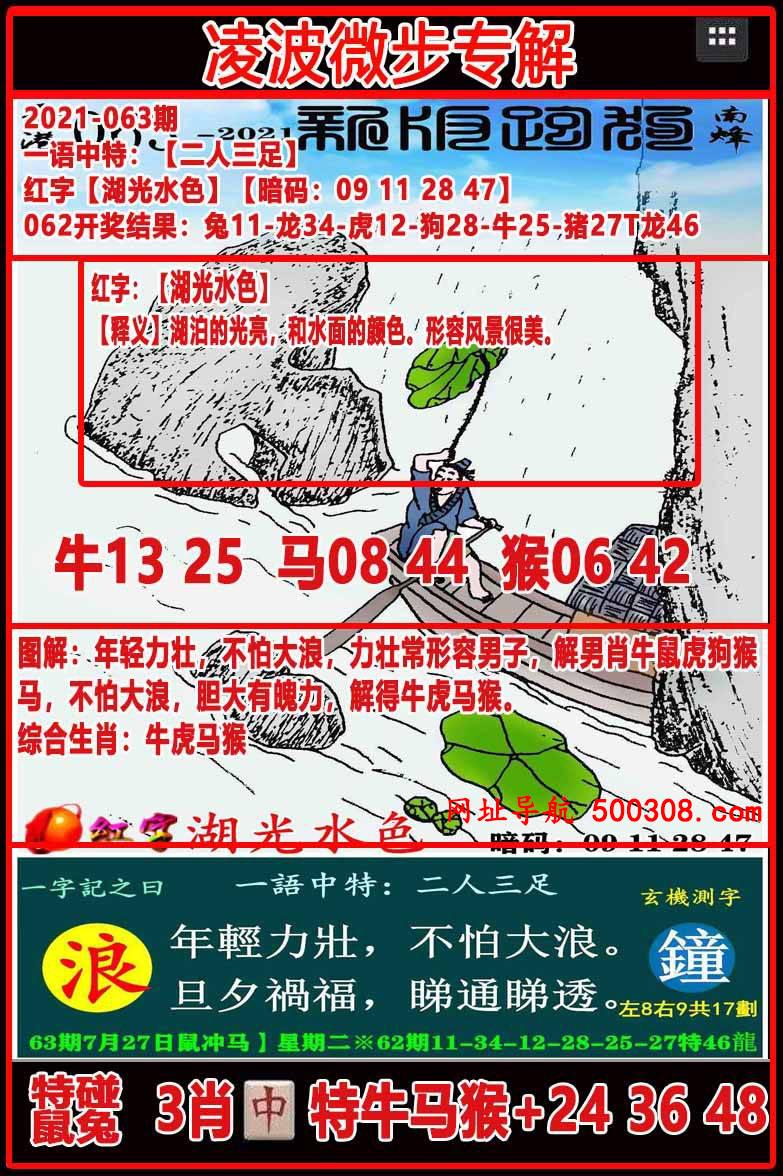 063期:凌波微步专解跑狗